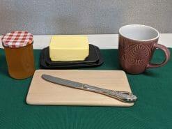 Frühstücksbrett nach Wunsch, Buche, 22x12 cm