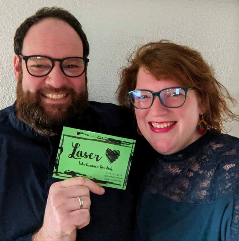 Carina und Stefan Kiecker von LaserHerz