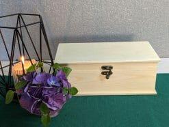 Kleine Holzkiste 24 x1 2 x 10 cm