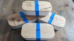 Gravierte Brotdosen aus Bambus