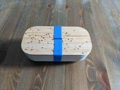 Brotdose aus Bambus graviert mit Pusteblume