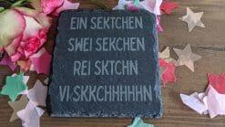 Ein Sektchen - Swei Sekchen - Rei Sktchn - Vi Skkchhhhhn - Untersezter Schiefer